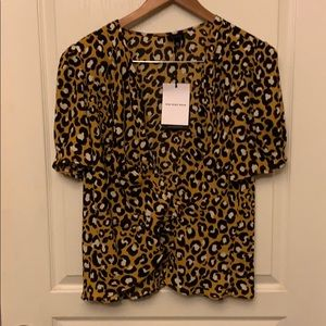 NWT Who What Wear Short Sleeve Blouse